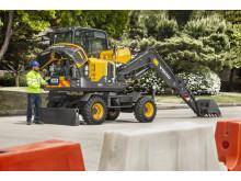 Volvo EW60E grävmaskin - tillgänglighet och enkel service