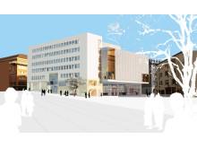Skissbild kongresshuset i Borås