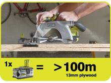 Maksimal driftstid til gør-det-selv-folket med nyt 5,0 Ah Lithium+ batteri fra Ryobi®