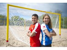 Ambassadörerna för SM i Beach Soccer i Kalmar