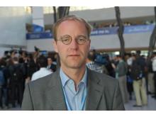 Petter Lydén, Diakonias policyrådgivare i klimatfrågor, på plats under klimatförhandlingarna i Doha.