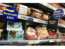 Kampanj i butik för märket Svenskt kött 2