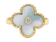 Exklusiva 23/11, Nr: 247, VAN CLEEF AND ARPELS, ring, Vintage Alhambra, 18K guld, pärlemor