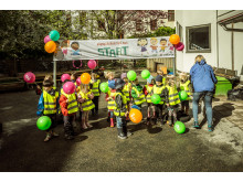 Baklängesmarsch i Göteborg 2015, dags för start
