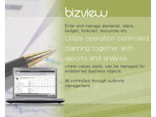BizView - Utilize operation controlled planning together with reports and analysis