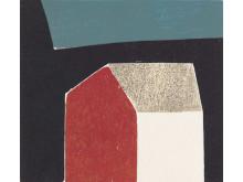 Avtrykk. Hanne Borchgrevink, Solvegg, 2000, utsnitt.