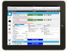 Kontroll på hem, sommarstuga och företag från iPad