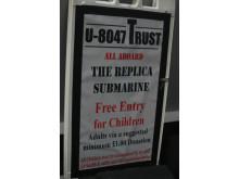 Op Cloudcastle Replica U-boat sign Leeds