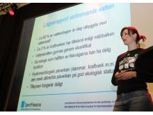 Christina Lindhagen föreläser om vattenkraftens miljöpåverkan