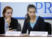Presskonferens i Moskva med ryska Piratpartiet om ryskt internetfilter
