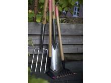 Trädgårdsredskap Spade kratta och hacka