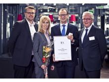 Utmärkelse för årets Employer Branding företag 2012 till Toyota Material Handling Europe