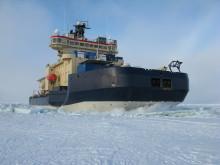 Isbrytaren Oden i Arktis. Foto: Polarforskningssekretariatet