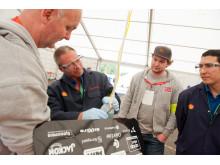 Spent stemning for Østfold mens Shells teknikere måler drivstofforbruk