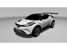 Toyota C-HR crossoverkoncept som tävlingsbil