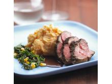 Receptbild Lamb Entrecôte with Sweet Potato Stomp and Chili & Red Wine Gravy