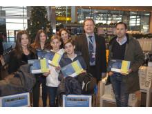 Familjen Paulson bidrog till nytt resenärsrekord på Arlanda