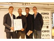 Mattias Stenberg receives the Nova design award