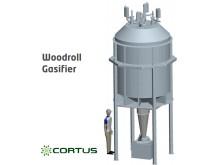 Cortus' patented WoodRoll® gasifier