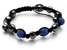 Dråpe discoballs armbånd blå