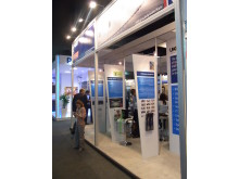 The imagineear pod on the UKTI stand at Soccerex, Forte Copacabana, Rio!