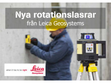Ny rotationslaser Leica Rugby 800-Serien