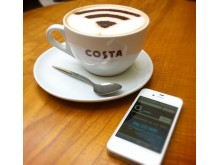 O2 gives customers free Wifi with their cappuccino at Costa 1