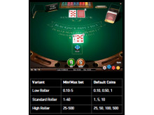Blackjack Single Deck High Limit at Vera&John Casino