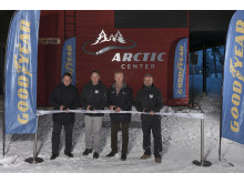 Goodyear opening Arctic Center, cut the ribbon 4/12 2014