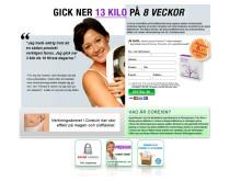 Bild på annons om viktminskning