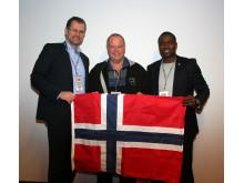 Wayne Otto sammen med Åge Thoen i midten og Morten Alstadsærher til venstre