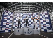 Third straight STCC win for Thed Björk and Volvo Polestar Racing