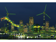 Smarta städer en visualisering  av August Wiklund / Swec