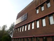 Solceller på Jokkmokks kommunhus.