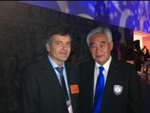 president Dr. Chungwon Choue I WTF sammen med Trond Berg