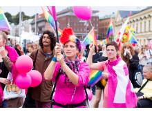 Pridetåg i Helsingborg, fotograf Anton Hilling