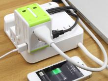Rejse-router og USB-oplader