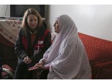 Ulrika Årehed Kågström och Samira i Homs i Syrien