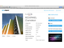 ROCKPANEL® façade panels available as BIM objects