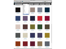 Fabrics and textiles from Uddebo Weaveri - screenshot from BIMobject Portal