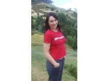 Emma Zetterberg på fältbesök med ActionAid i Etiopien