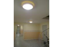 Nyköpingshem sparar energi med Frank LED-armatur.