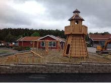 Woodwork AB - Fyren hos Daftö Resort med klätternät och klättervägg