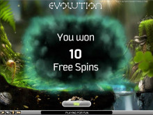Evolution slot freespins