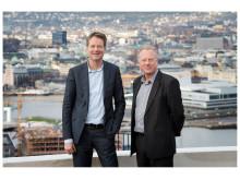 Audun Eckhoff, direktør Nasjonalmuseet og Stein Olav Henrichsen, direktør Munchmuseet