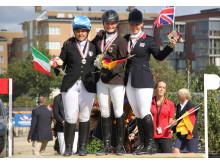 EM för unga ryttare - tre individuella medaljörer