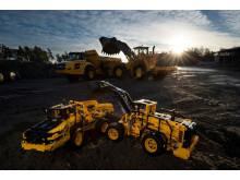 LEGO Technic - Volvo L350F hjullastare och Volvo A25F dumper