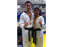 Nina Bansal og Joachim Wien vant bronse i mix klassen i Spania Open