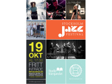 Affisch till Stockholm Jazz i Bryggarsalen 19 oktober 2014