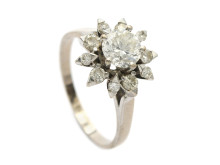 Klassiska 30/1, Nr: 53, RING, 18K vitguld, briljantslipad diamant ca 0,90 ct